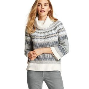 Lands End | Fair Isle Roll Neck Sweater